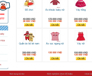 Giao diện shop baby 3